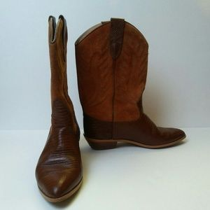 Vintage Chili's Leather Cowboy Boots, 8